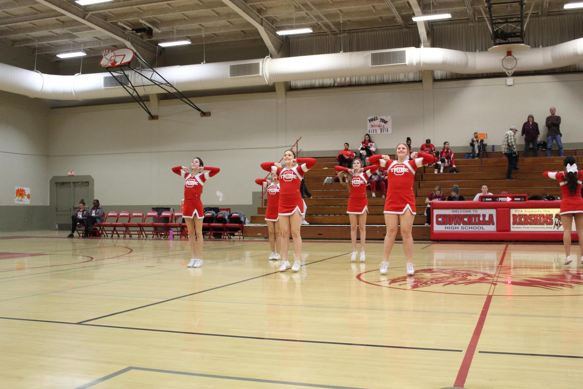 Cheer at Sierra basketball game