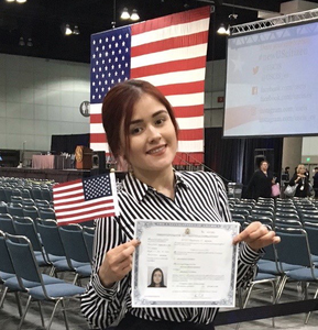 Manuela Jaramillo becomes a U.S. Citizen
