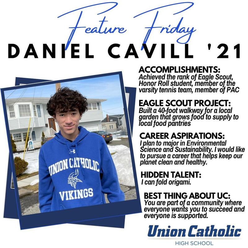 Union Catholic's Daniel Cavill Has Achieved The Rank of Eagle Scout Thumbnail Image