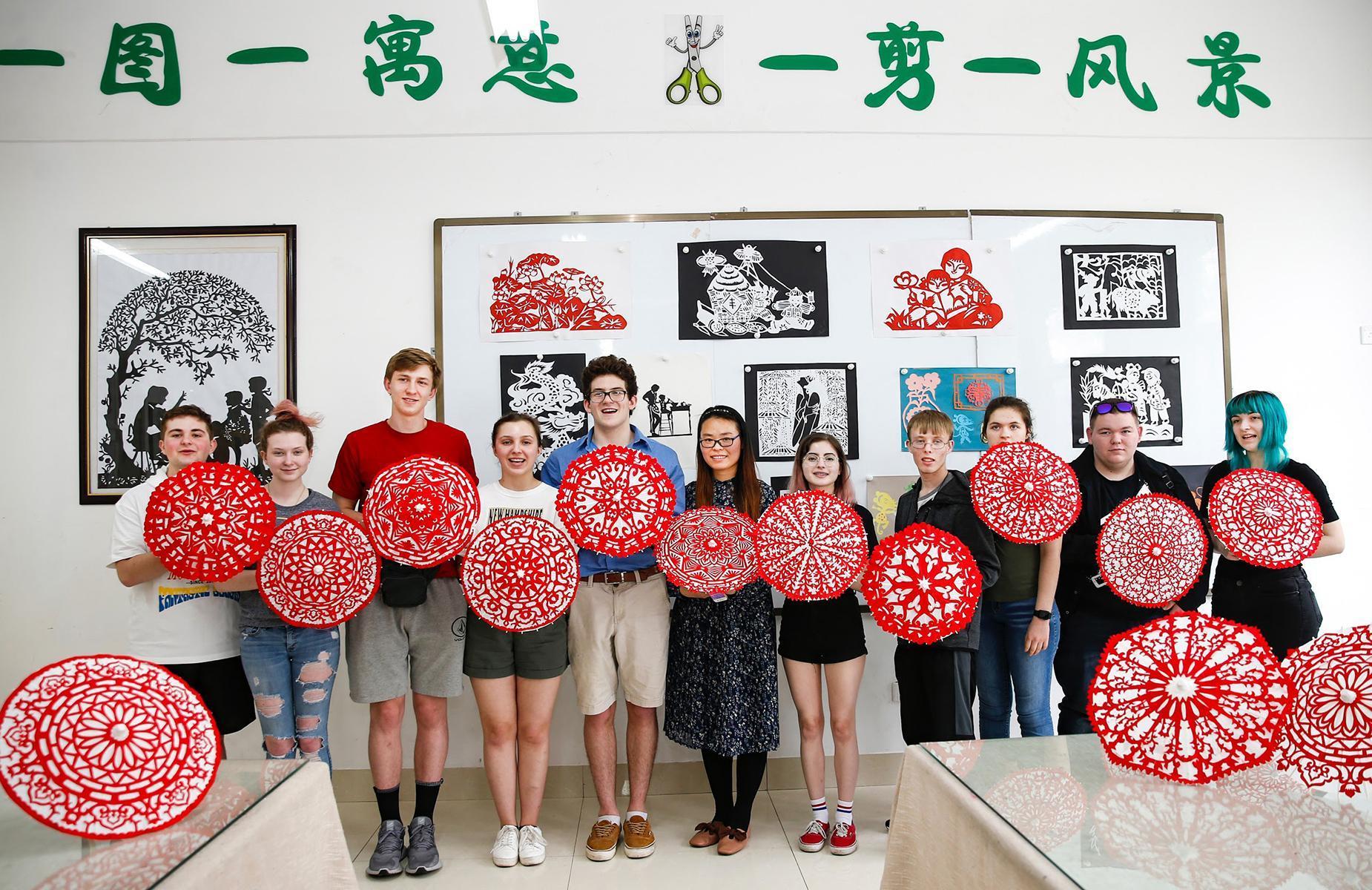 Students on their China trip