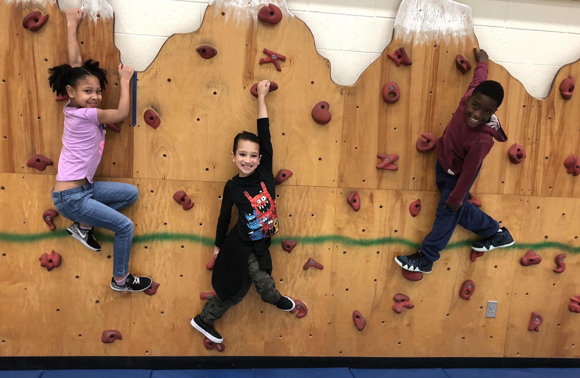 Staying Fit with PE Rock Climbing.