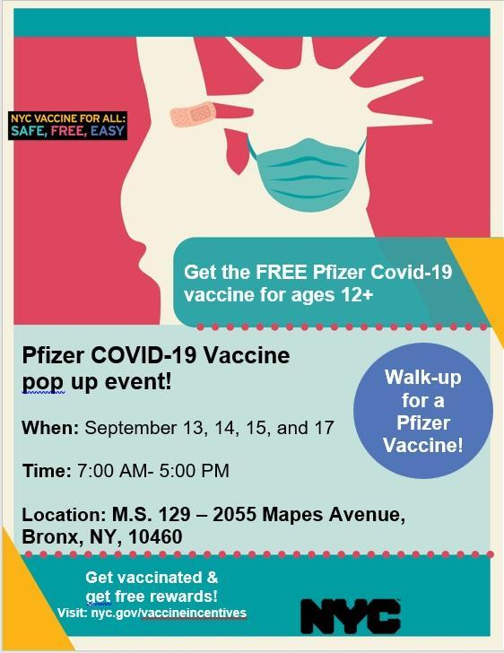 Covid vaccine pop up event