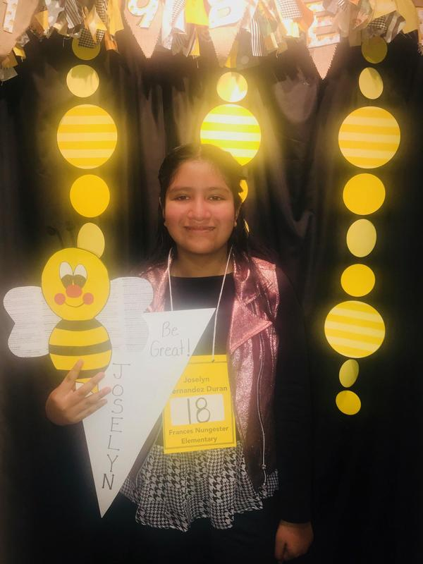 Way to go Joselyn Hernandez-Duran representing FNES at the Morgan County Spelling Bee! Featured Photo