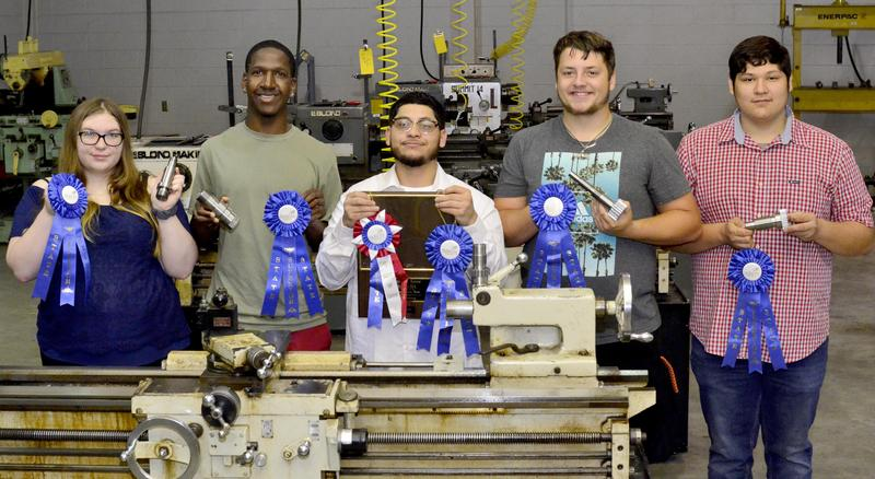 WOS Precision Machine students earn blue ribbons at STATE.