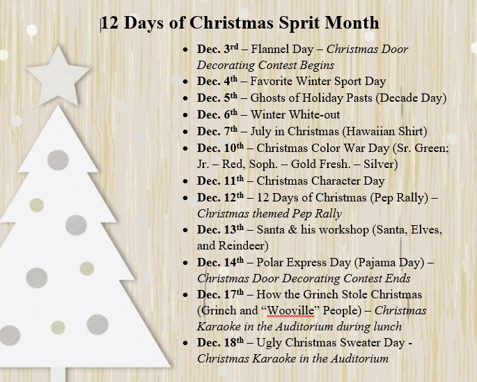 12 Days of Christmas Spirit Month Featured Photo
