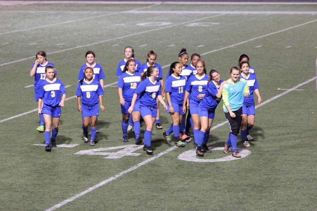 girls soccer team on the field