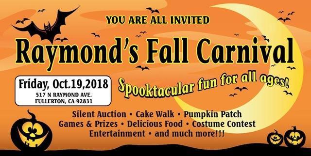 Fall Carnival October 19th 5-9p.m.