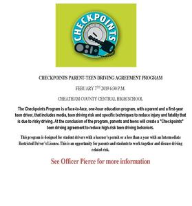 checkpoints program for new drivers