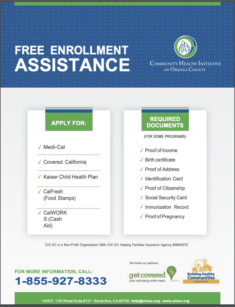 Community Health Initiative Flyer - English