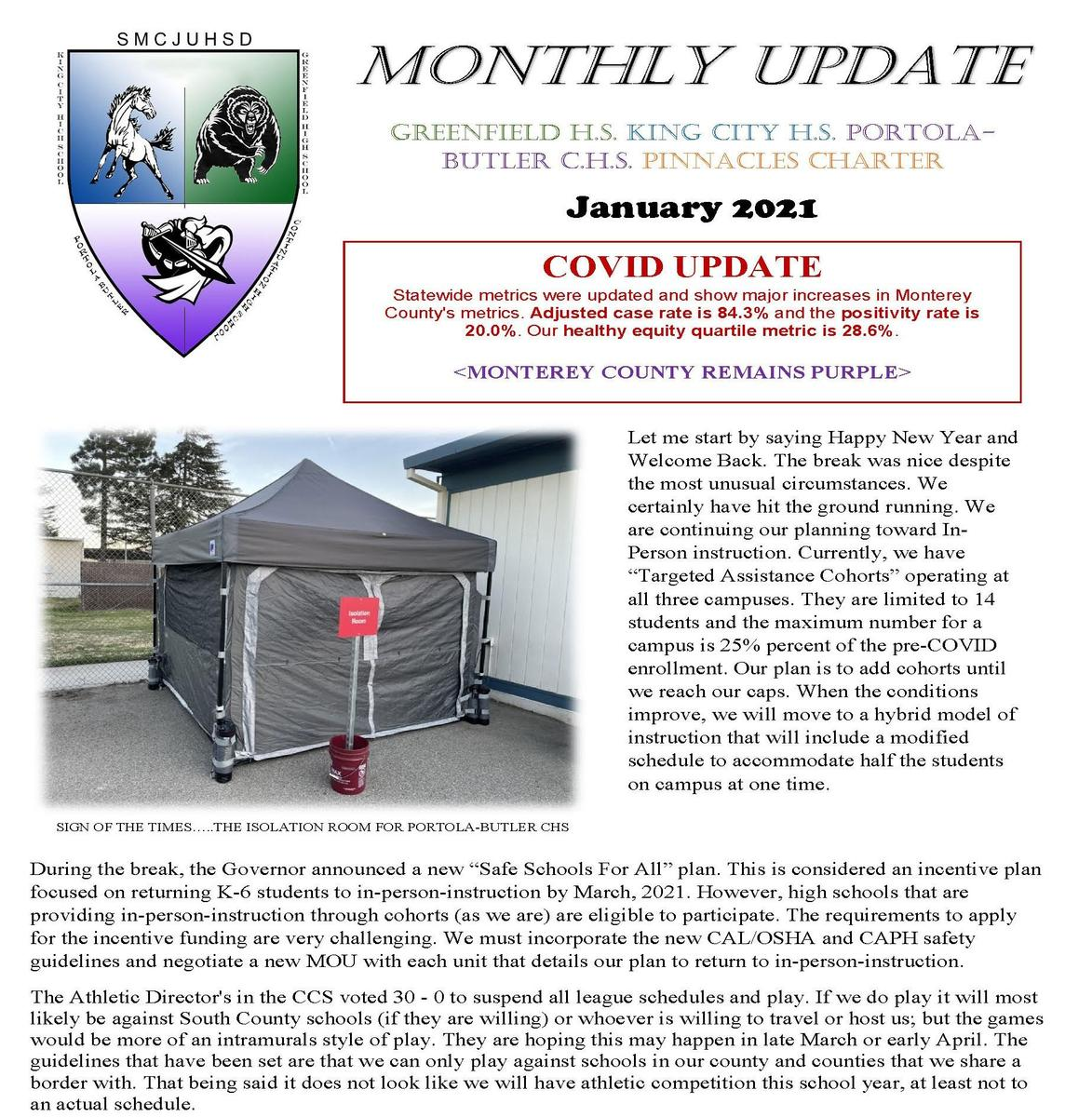 community update part 1