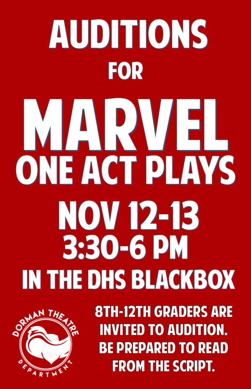 Marvel audition poster