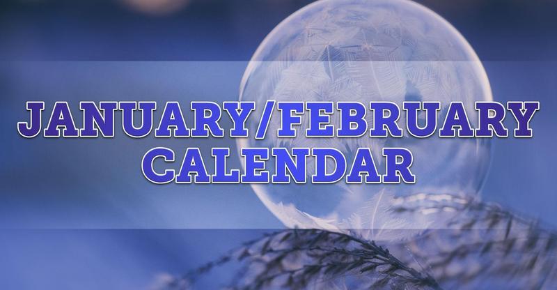 January & February 2020 Calendar