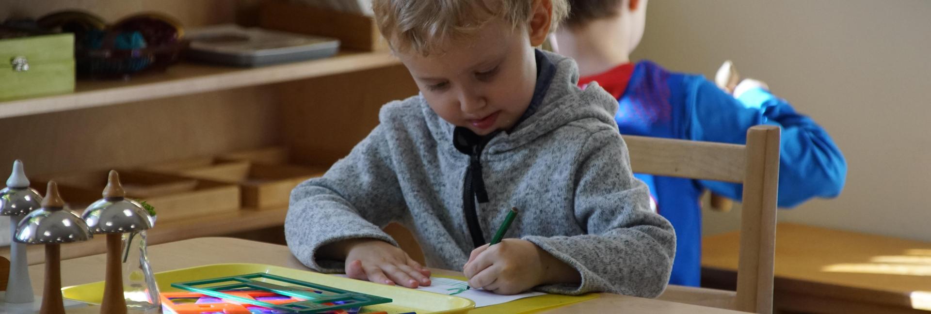 Children's house child working