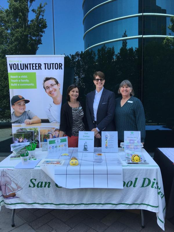 SCEF, Healthy Cities and SCSD at volunteer booth.