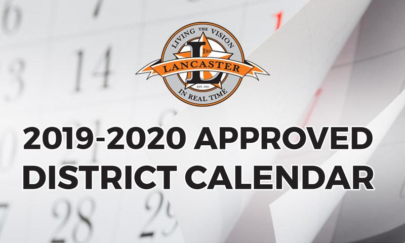 Lancaster ISD Board Approved District Calendar Thumbnail Image