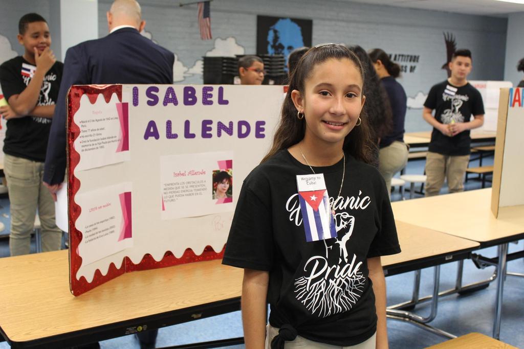girl with presentation on isabel allende