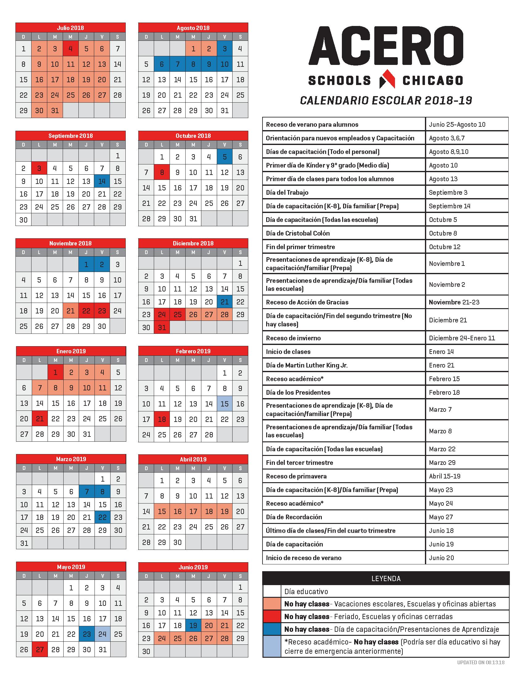 2018-19 School Calendar_Spanish