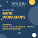 Math Workshops Flyer