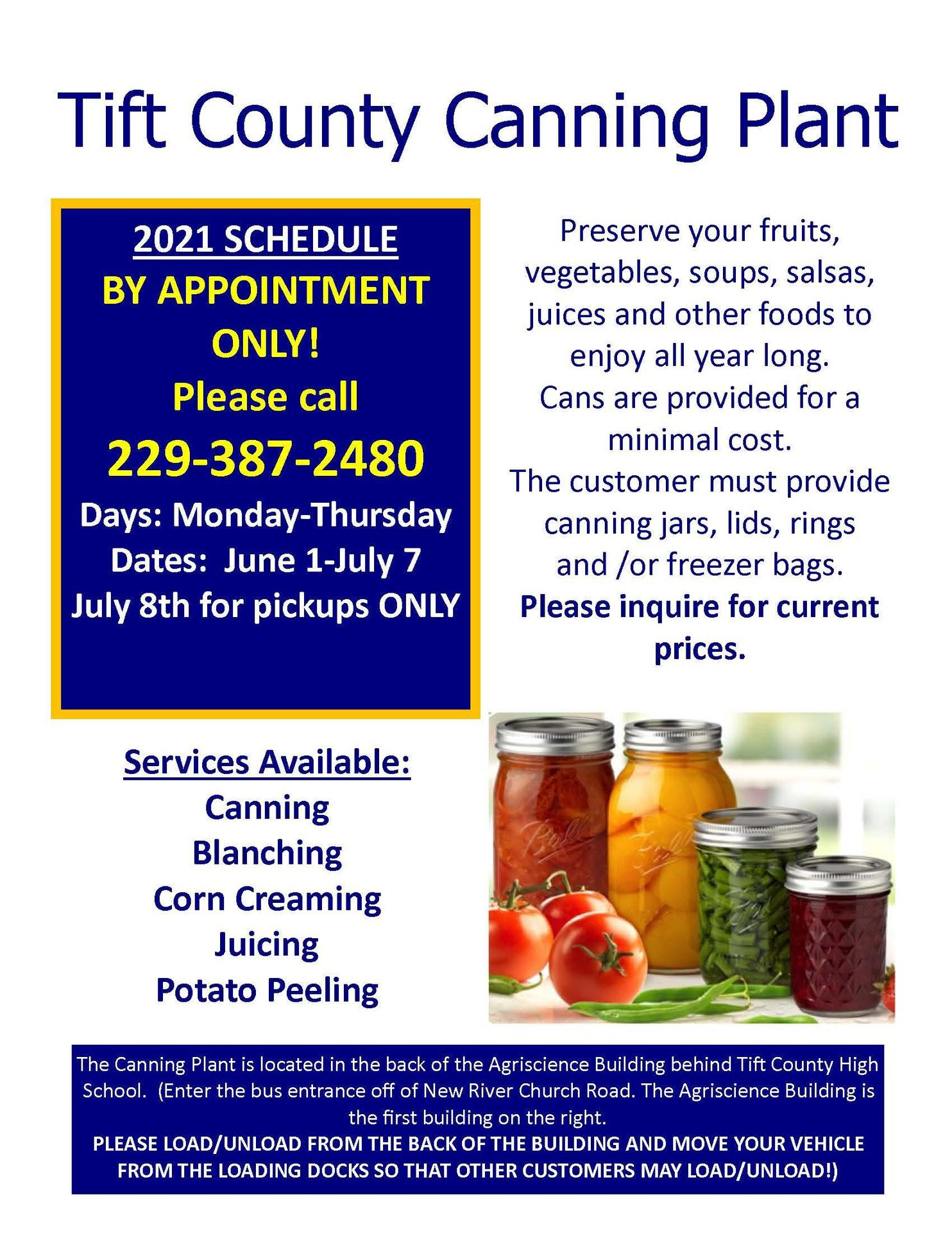 Canning Plant Flyer