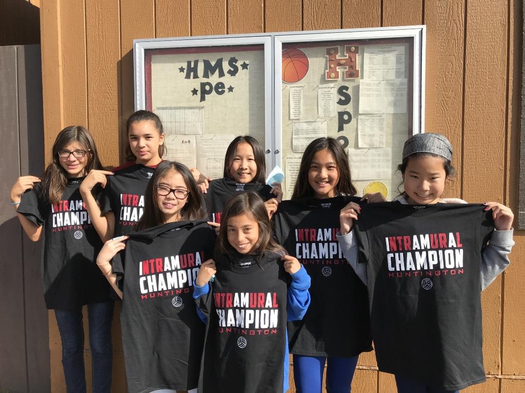 ntramural Volleyball Champions - Beginner/Intermediate