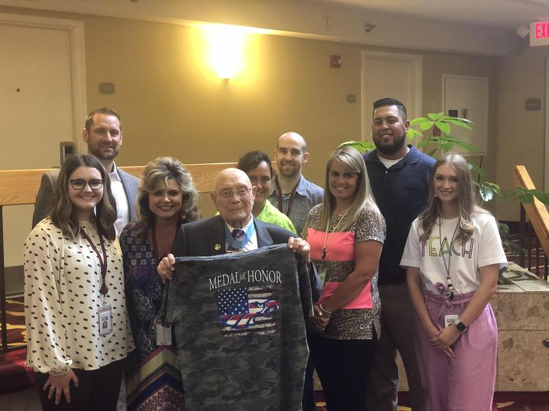 RISD staff shares lunch with Medal of Honor Recipient Featured Photo