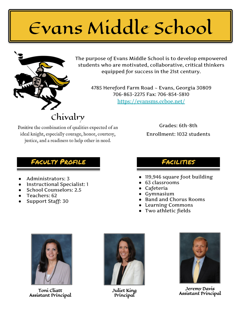 EMS School Profile page 1
