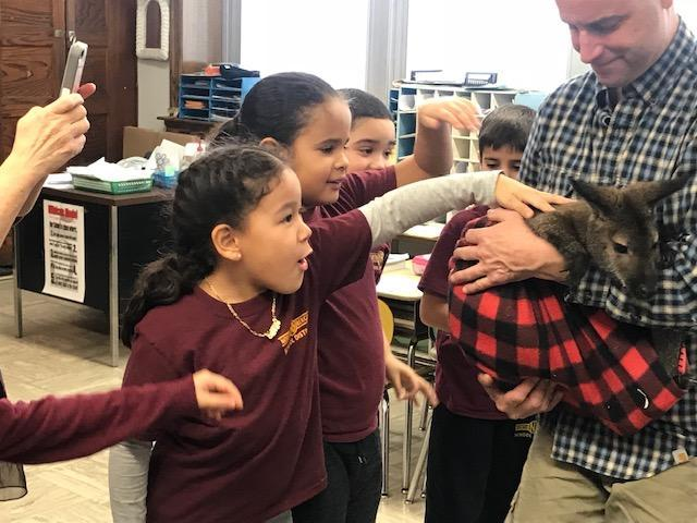 Robert Fulton School 2nd Grade welcomes Outragehisss Pets Featured Photo