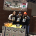 DECA students with collected food
