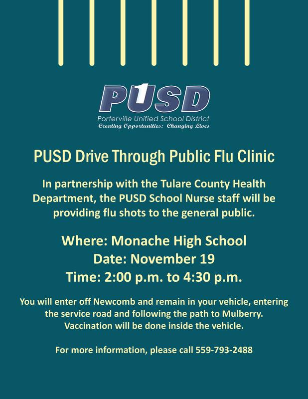 Public Flu Shot Flyer