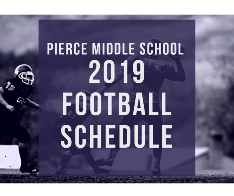 Pierce Middle School 2019 Football Schedule Featured Photo