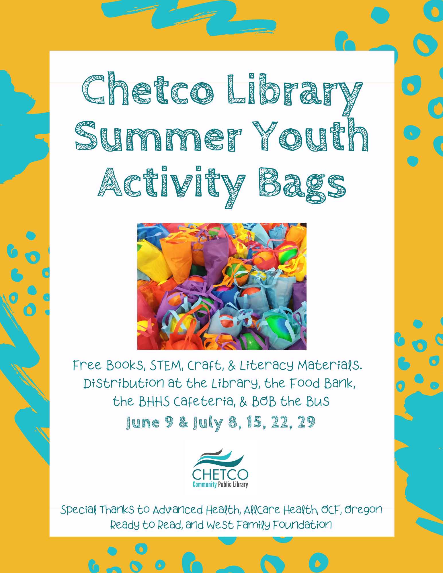 Youth Activity Summer Bags