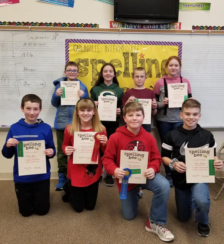 5th Grade Spelling Bee Participants