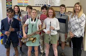 2020 district band students