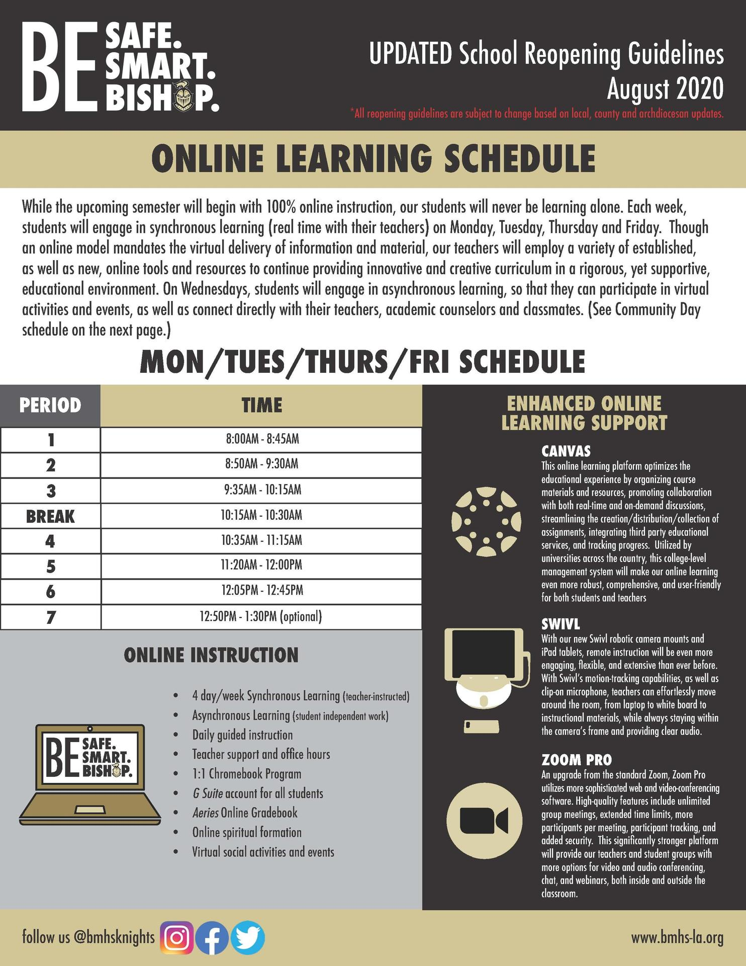 Online Learning Schedule_MTThF