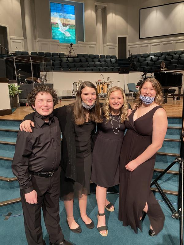 All-West honor choir concert in Jackson, TN.  4 CMS students represented Crestview in a big way!  Olivia Jones Riley McDaniel  Abrianna Miser  Addison Herron  Great work!