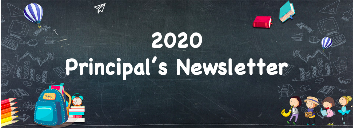 August 2020 Principal's Newsletter Featured Photo