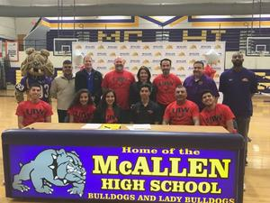 Group at McHi track signing