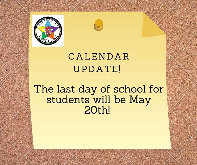 Last Day of School for Students will be May 20th! Featured Photo
