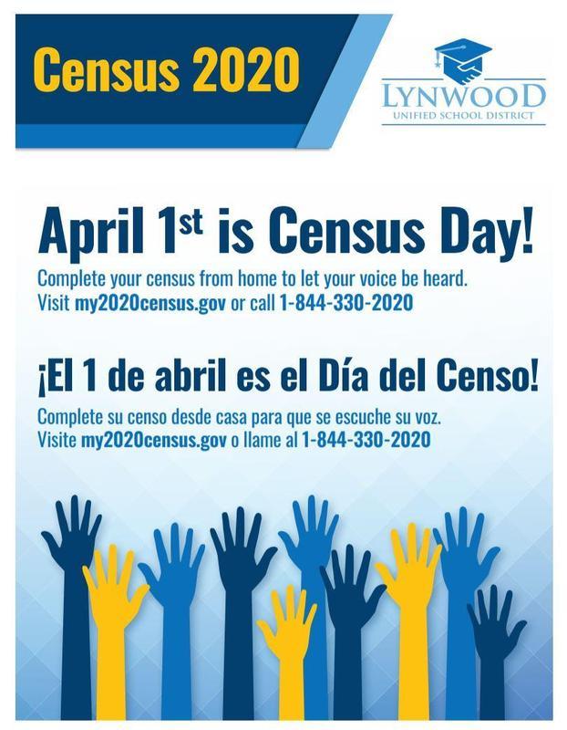 April 1st is Census Day! | El 1 de abril es dia del Censo! Featured Photo