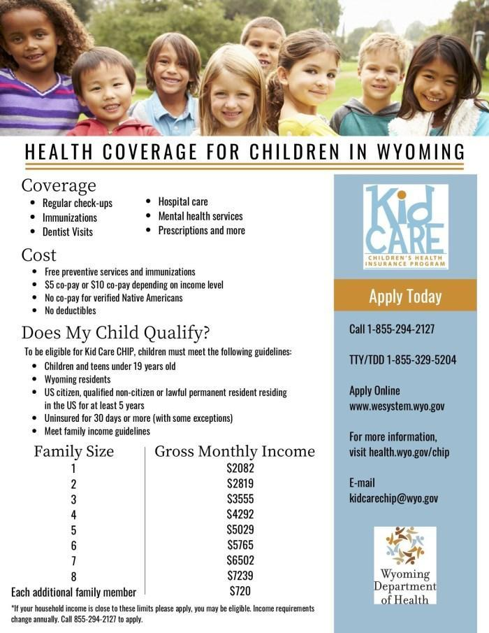 Kid Care Health Coverage Flyer