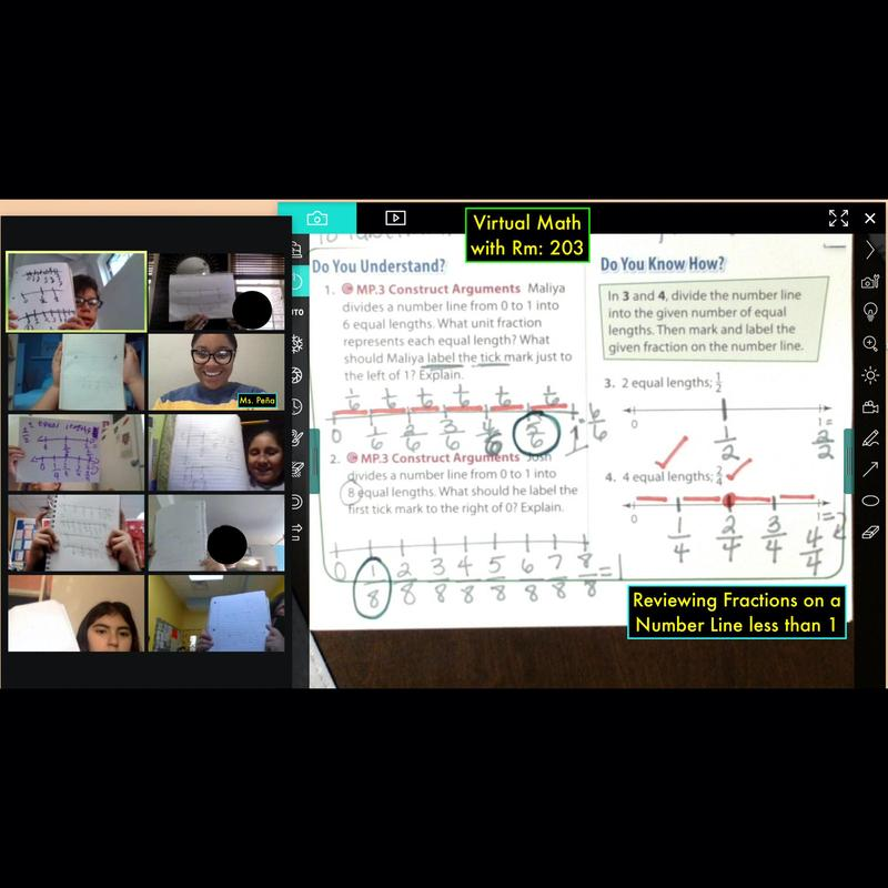 Math document on zoom