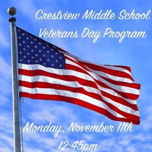 Veterans Day Program Scheduled November 11 at 12:45pm