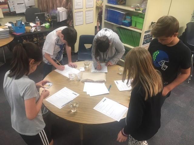 Students demonstrating important skills and traits Thumbnail Image
