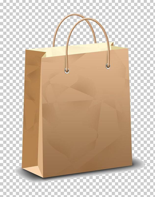 A brown shopping bag