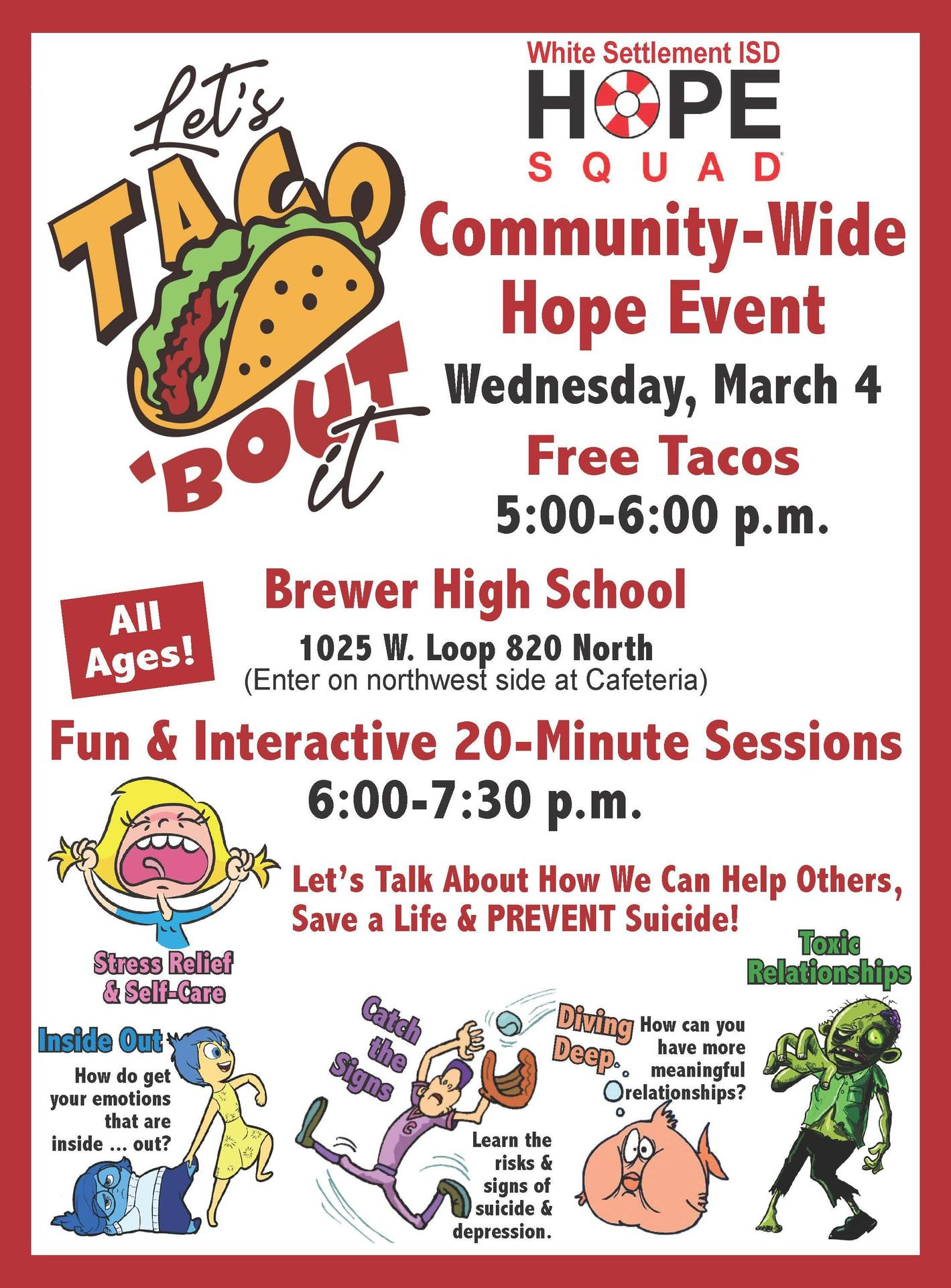 Let's Taco 'Bout It Night Wednesday, March 4