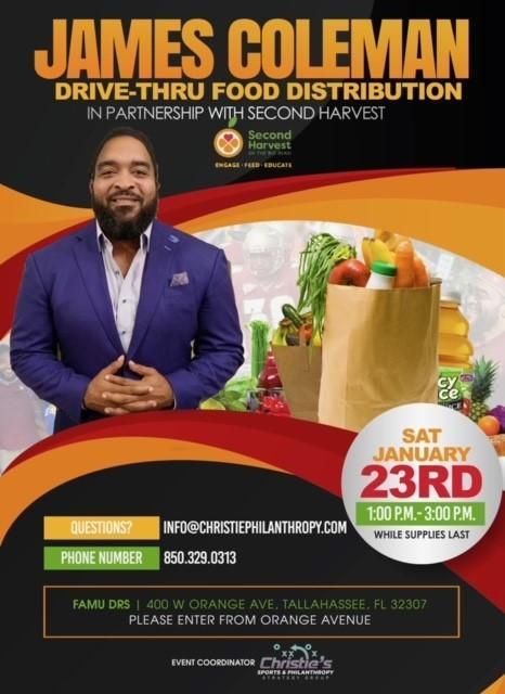 James Coleman Drive-Thru Food Distribution event