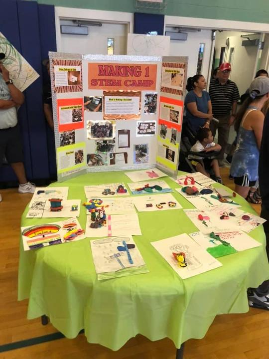 stem camp table display