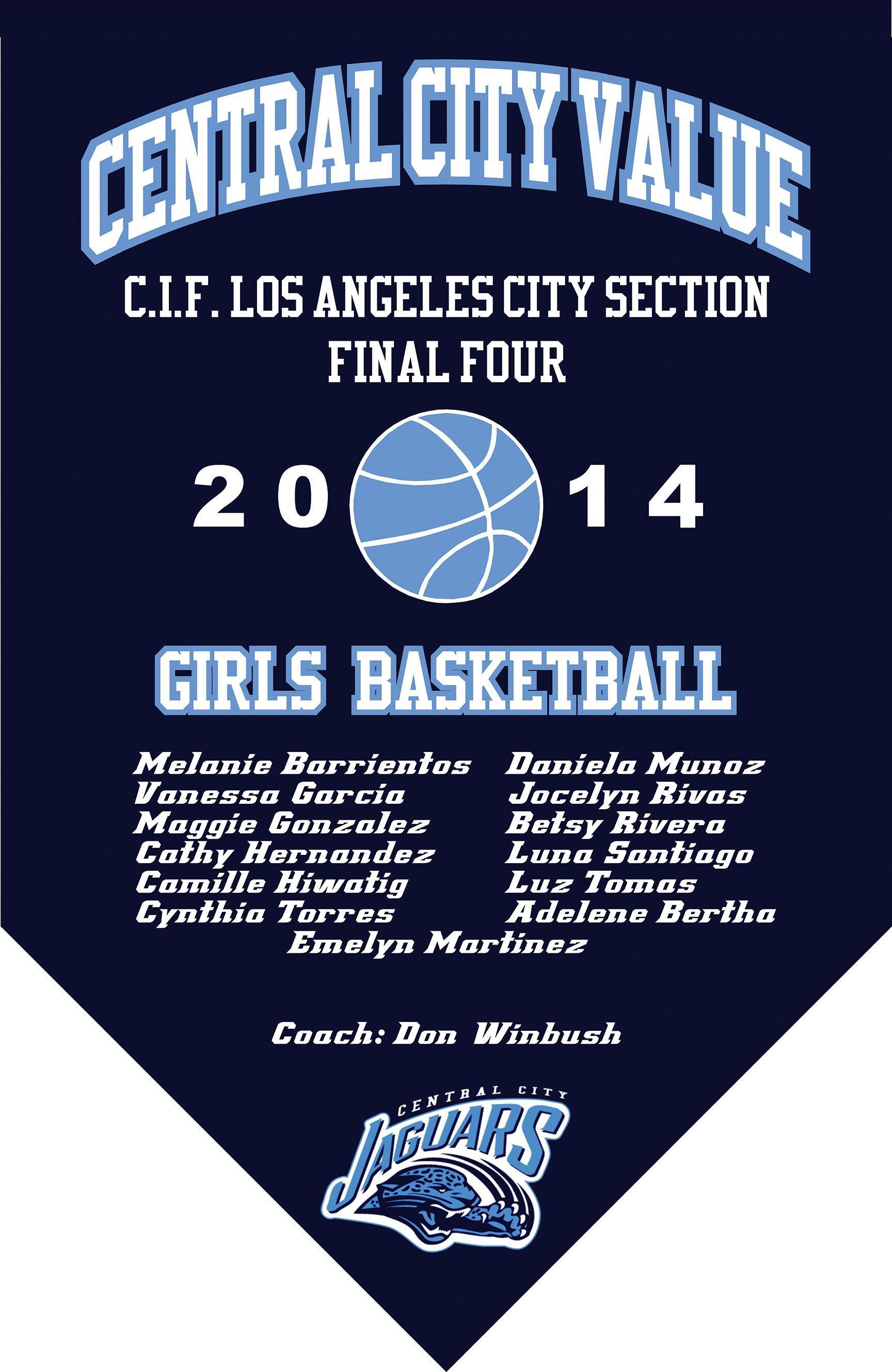 2014 Girls Basketball Final Four Banner