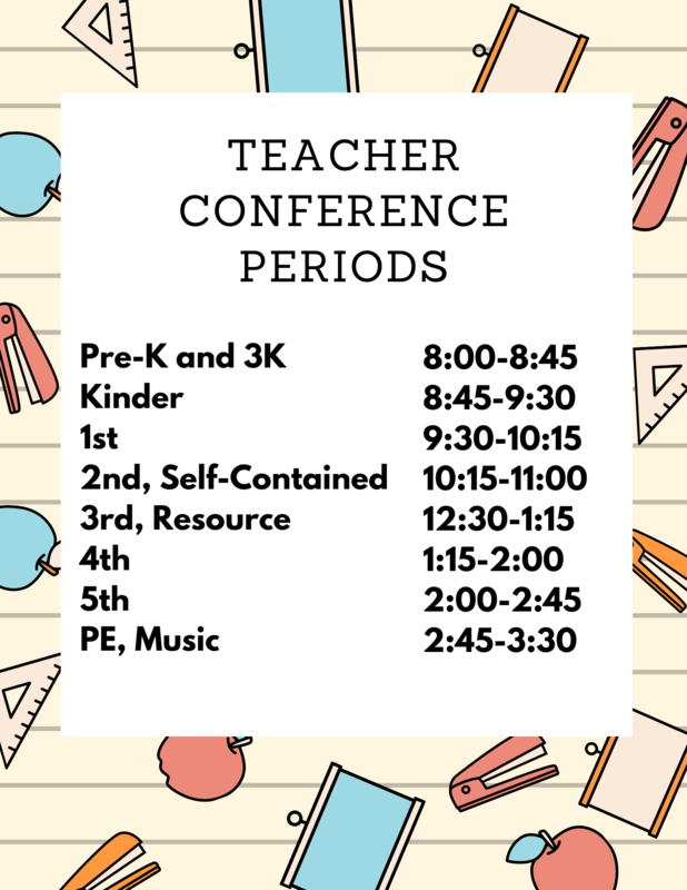 Teacher Conference Periods 2021-2022