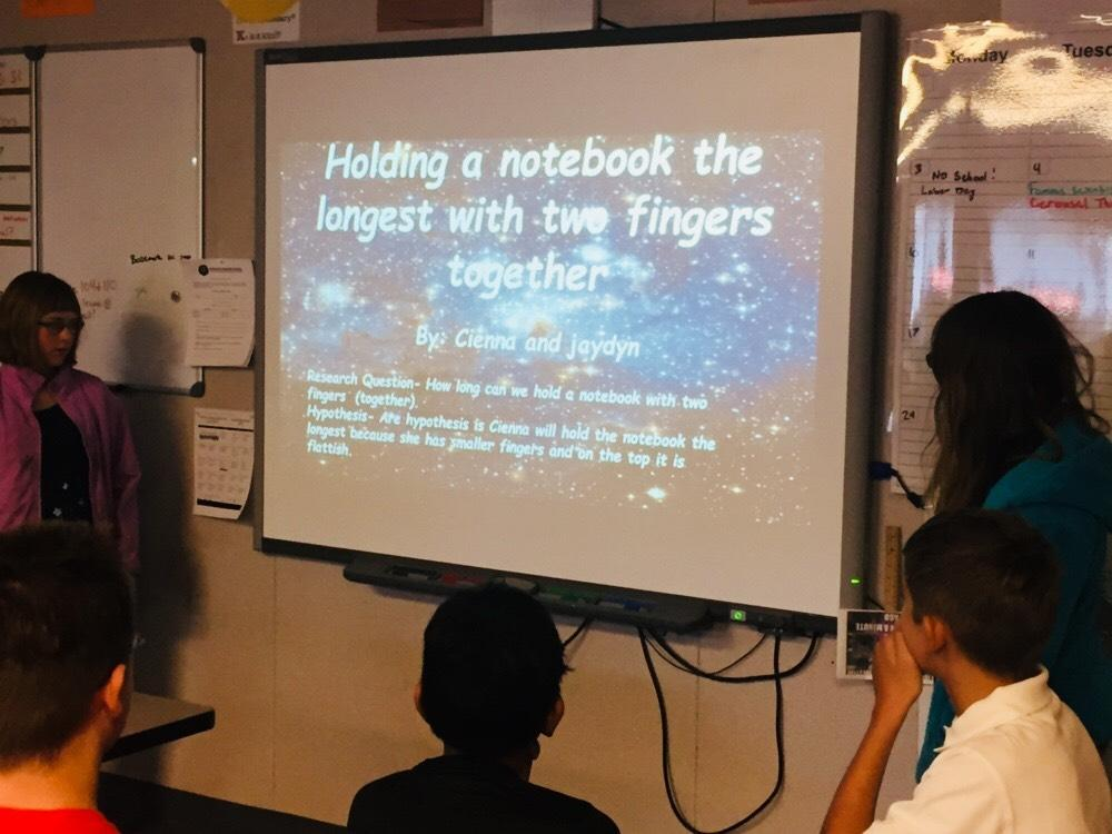 6th science experiment presentations